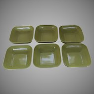 Mid Century Campo California Porcelain Square Bowls Minimalist