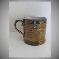 English Copper Luster Mug 19th Century