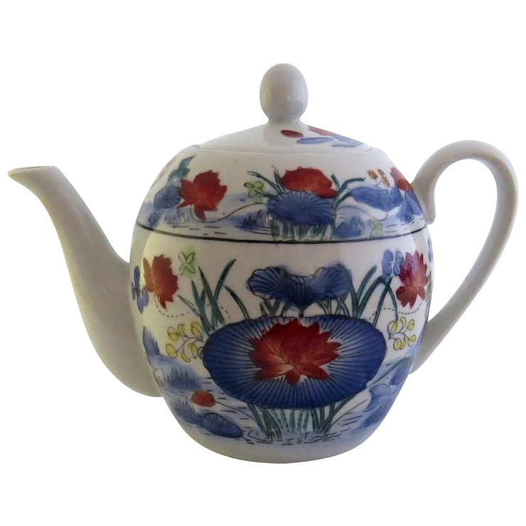 Vintage Grande Cuisine Williams Sonoma Chinese Motif Teapot Made In