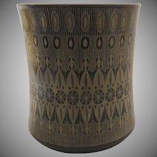 Vintage 1960's Hans T. Baumann for Rosenthal Gold Black Geometric Design Cup Holder