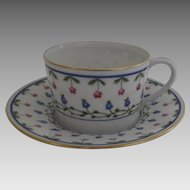 """Vintage 1960's 4 x Raynaud Ceralene Limoges France Porcelain Large Coffee Cups and Saucers """"Lafayette"""""""