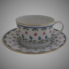 """Vintage 1960's 3 x Raynaud Ceralene Limoges France Porcelain Large Coffee Cups and Saucers """"Lafayette"""""""
