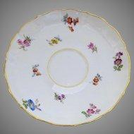 Vintage Meissen Scattered Flowers Saucer