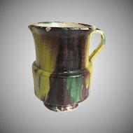 "Vintage Mexican Oaxaca Drip Glaze Large Pitcher 6"""