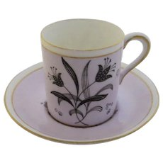 Paragon Fine Bone China England Demitasse Cup and Saucer Tulips