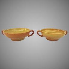 Vintage Gladding McBean/Franciscan Pottery Soups and Saucers El Patio