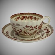 Spode India Tree Cup and Saucer Excellent