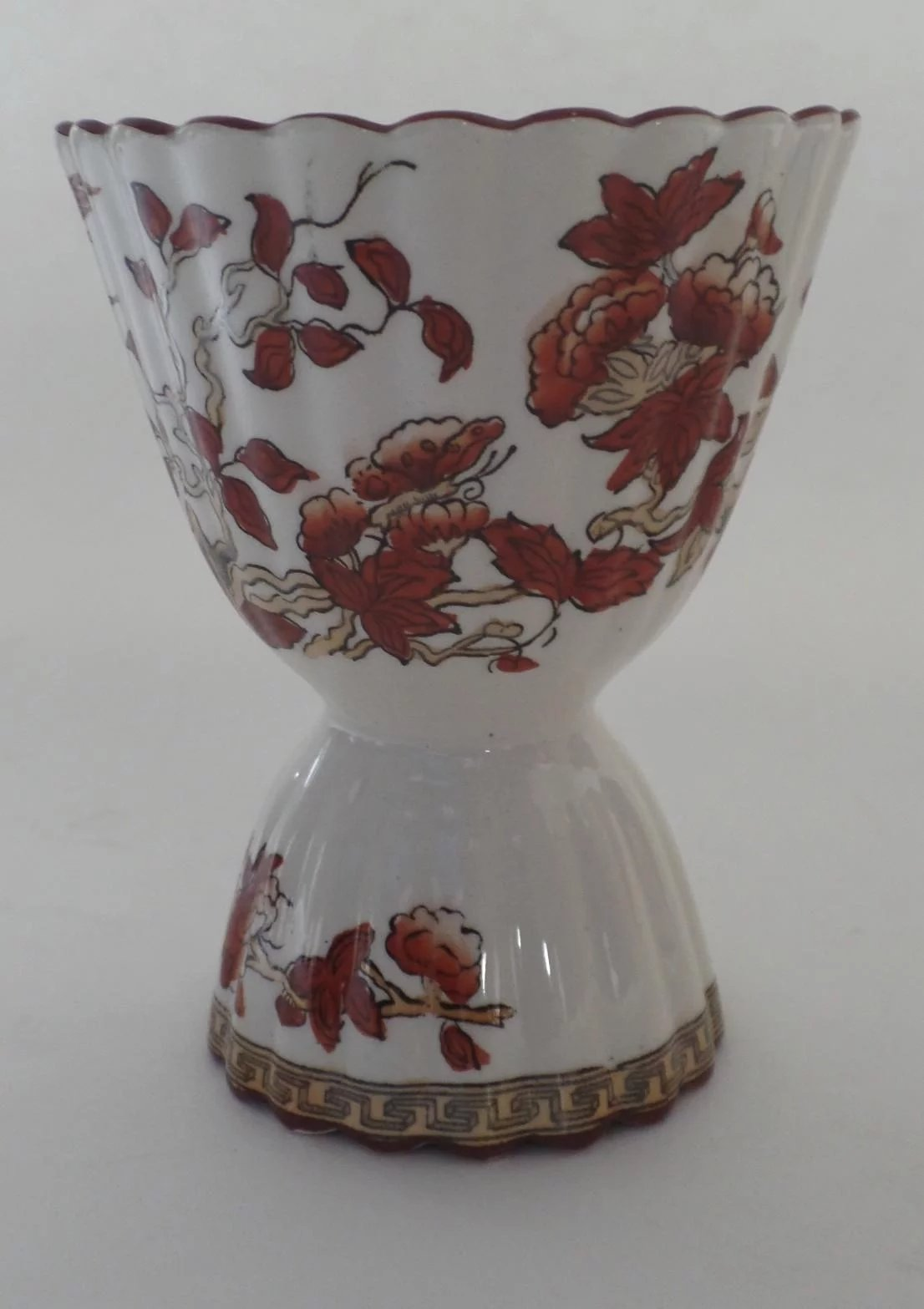 Vintage Spode India Indian Tree Rust Double Egg Cup Older