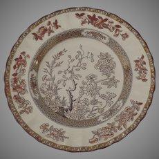 "Vintage Spode India Indian Tree Rust 7 1/2"" Plate Older Mark"