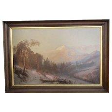 Oil on Canvas by J. E. Stuart