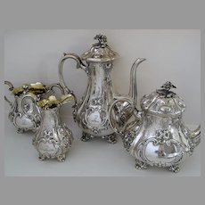 Sterling Silver Tea Set by Charles Reily & George Storer c1846