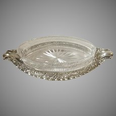 19th Century English Silver Plate Gurkin Dish Walker & Hall