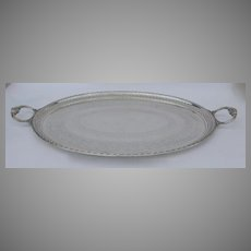 Oval 19th Century English Silverplate Tray by Elkington