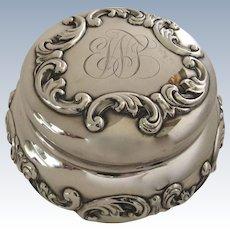 Sterling Silver Lidded Jar Dresser Box by Geo. C. Shreve & Co., San Francisco