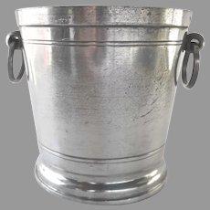 "European Pewter Wine Cooler Ice Bucket 5"""