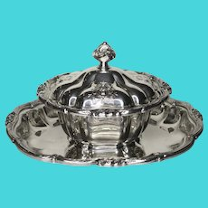 Vintage Roger Canada Small Silver plate Tureen with Under Plate