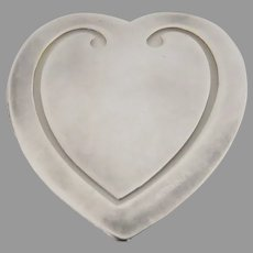 Vintage Reed & Barton Silver Bookmark Heart