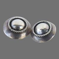 Pair of Vintage Sterling Silver Earrings  Hand Made