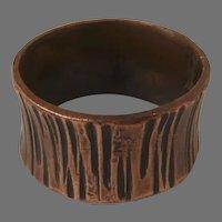 Vintage Copper Brutalist Hand Made Ring