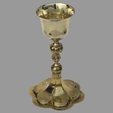European 18th Century Partial Gilt Silver Chalice