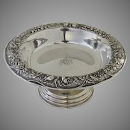 Vintage S.Kirk & Son Inc. Sterling Repousse Small Footed Compote