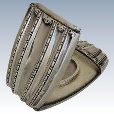Handsome Sterling Silver Vesta Match Case Box Hidden Photo Locket
