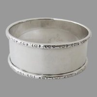 Vintage Sterling Silver Napkin Ring by Webster