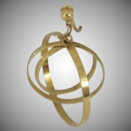 Vintage Gold Tone Earrings Loops Orbs Signed Napier