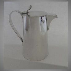 C1890's Gorham Silver Plate Silver Soldered Chocolate Pot