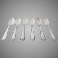 6 x Vintage Sterling SilverTeaspoons Spoons by Westmorland in the Lady Hilton Pattern