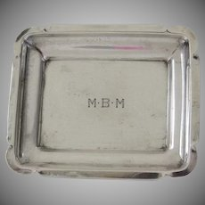 Small Sterling Vintage Dish Monogram Trinket