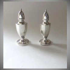 Vintage Alvin Sterling Silver Salt Pepper Not Weighted 59grams