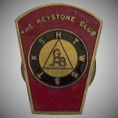 Vintage Older Mason's Masonic KSHTWSST Keystone Club Royal Arch Enamel Lapel Pin