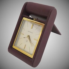Vintage Jaeger-LeCoultre Travel Folding Alarm Clock Eight Day