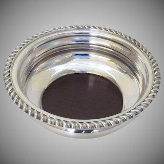 Vintage Large Silver Plate Wine Bottle Coaster