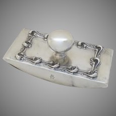 Sterling Silver 1890's Ink Desk Blotter by Meriden, Connecticut