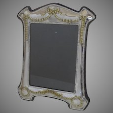 "Large Vintage Silver Plate Picture Frame International Silver Company Holds 5"" by 7"""