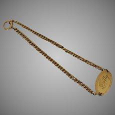 "Vintage ID Bracelet Oval ""Dotty"" Gold Filled Binder Bros., Inc., New York, NY."