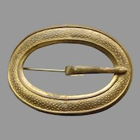 Edwardian Large Buckle Shaped Pin Brooch