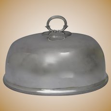 19th Century Large Silverplate Meat Dome by SILBER & FLEMING LTD
