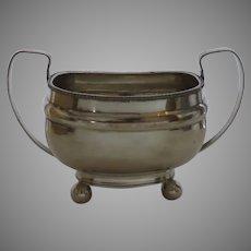 English Sheffield Sugar Bowl Double Handled c 1810