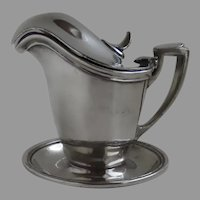 United States Shipping Board Silver Plate Pitcher with Underplate by International c 1918