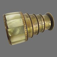 19th Century Mother of Pearl Spyglass Telescope 4 Draw