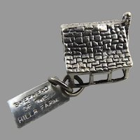 Vintage Sterling Silver Sun Bell Cabin Charm Shepard of the Hills Farm