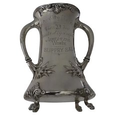 1911 Silver Plated Trophy Inter City Race Class D Worcester at Springfield Won by Slippry Sal Loving Cup