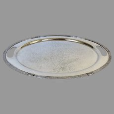 Arts and Crafts Meriden Silver Plate Serving Tray Hammered Finish