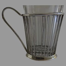 19th Century Wire Work Glass Cup Holder