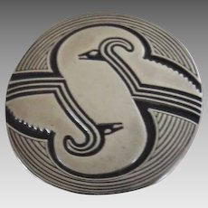 Sterling Silver Pendant Brooch Convertible by W. Smolak Native American