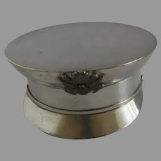 Small Silver Plated Soldier Hat Pluribus Unum Eagle Logo Novelty