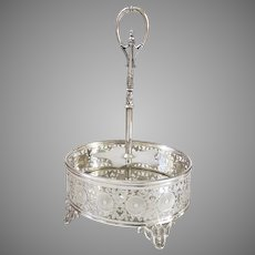 Fabulous English Silver Plate Cruet Stand Registered Mark